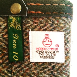 Closeup Harris Tweed Pouch